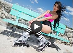 Miami Roller Skater Veronica Rodriguez Facial