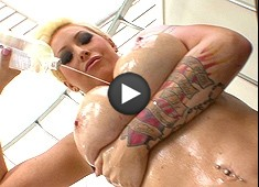 Candy Manson Caught In A Big Tit Oil Slick