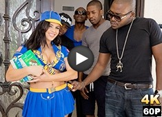 Keisha Grey Scouts For An Interracial Gang Bang