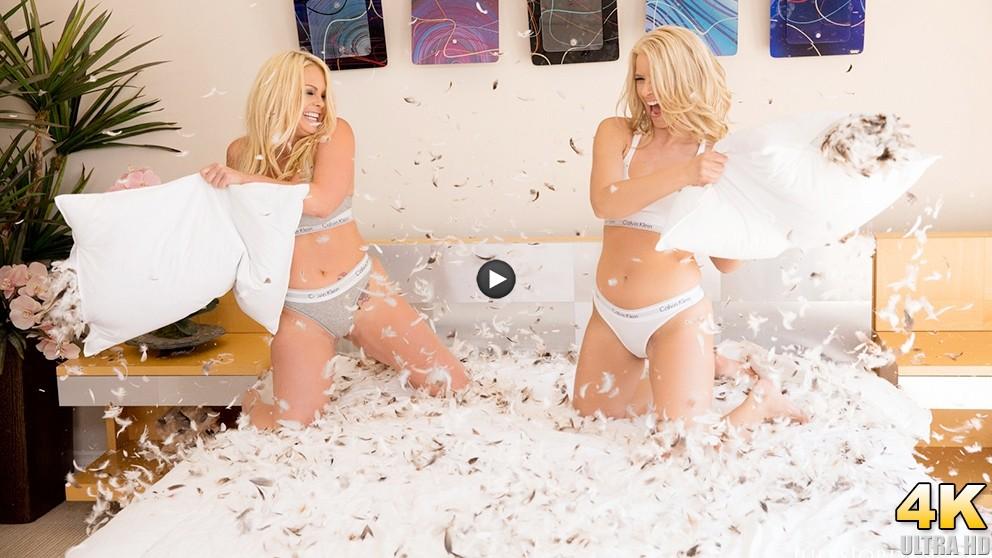 Watch Trailer Jesse & Anikka Albrite Engage In A Hot Pillow-Fight Turned Lesbo Fuckfest! In 4K