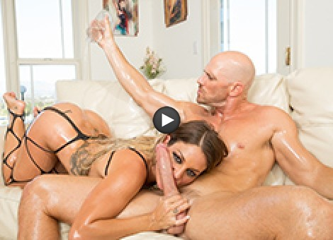 Kissa Sins Caught In An Oil Slick And Stuffed With Dick