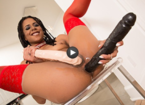 Kira Noir Warms Up Her Asshole For Manuel's Fat Cock