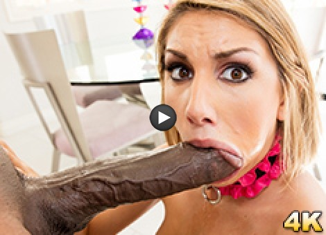 August Ames Takes A Big Black Cock! Once You Go Mandingo You Go Wheelchair