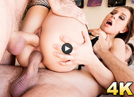 Aidra Fox Caught In A Dp Sandwich!