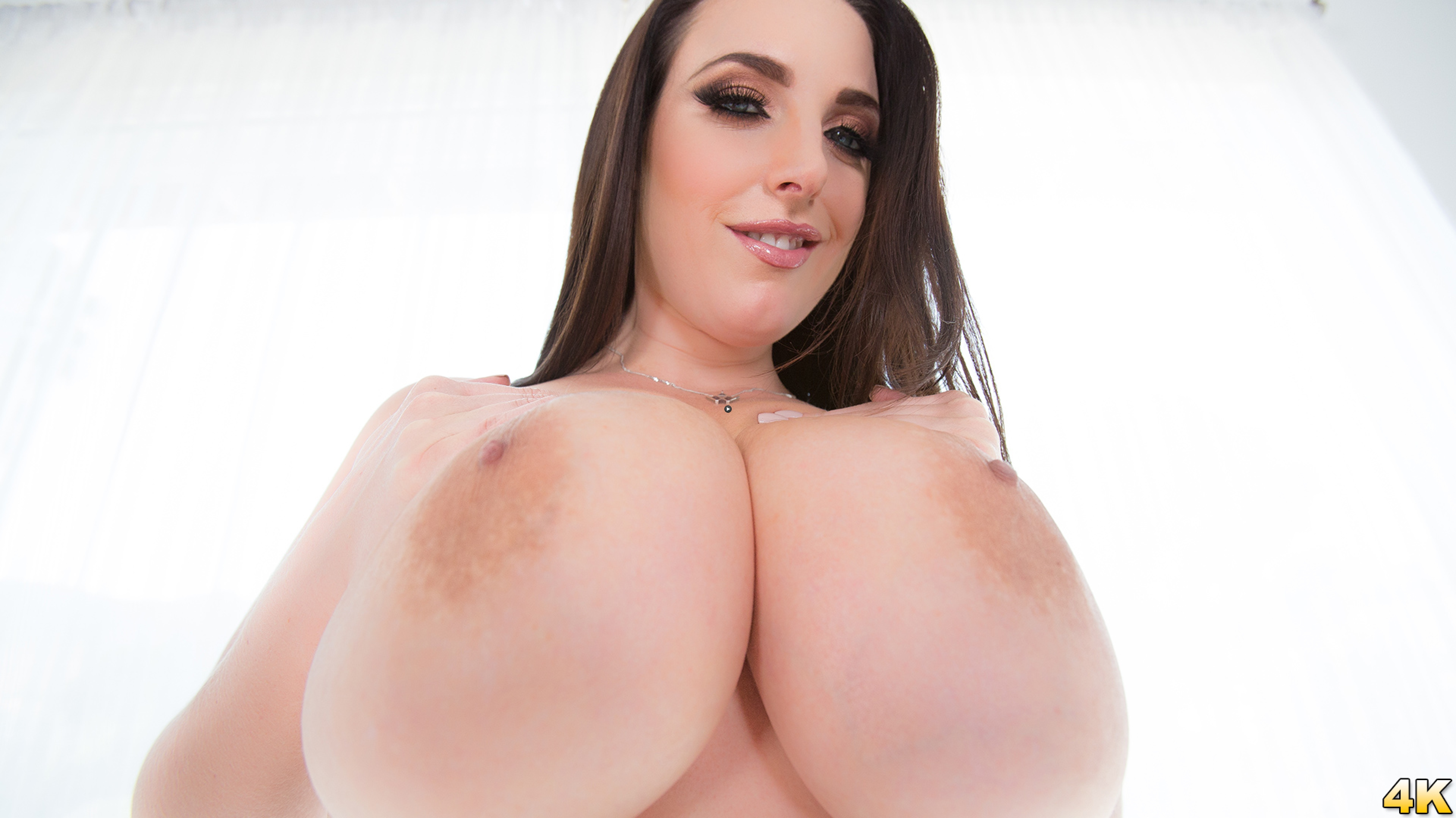 Watch Trailer Angela White Shows Off Her Big Natural 42G Tits, This Aussie Gets A Cock In Her Outback!