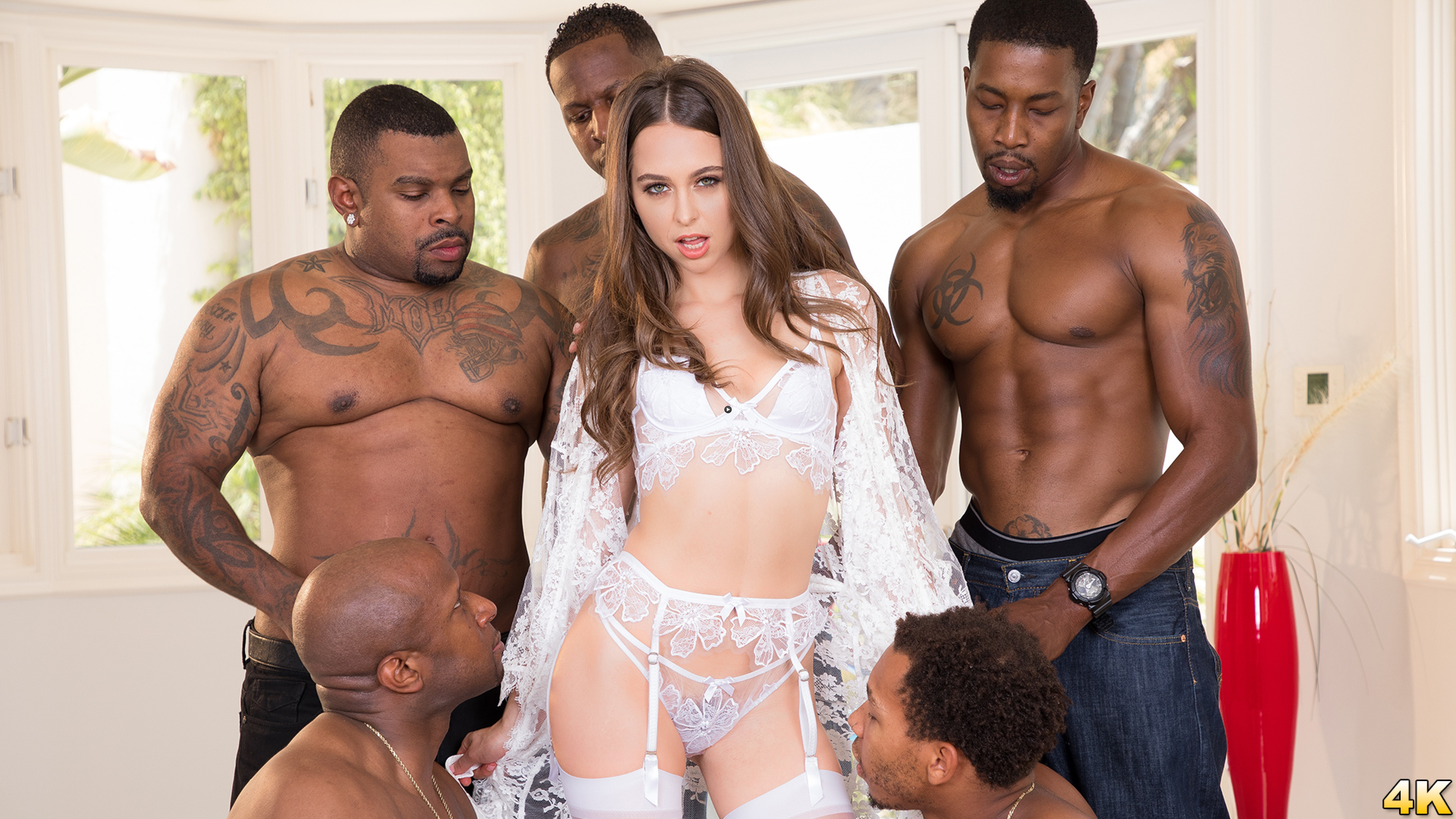 Watch Trailer Riley Reid Interracial Gangbang! No Holes Barred! Where Will All Those Big Black Cocks Go?