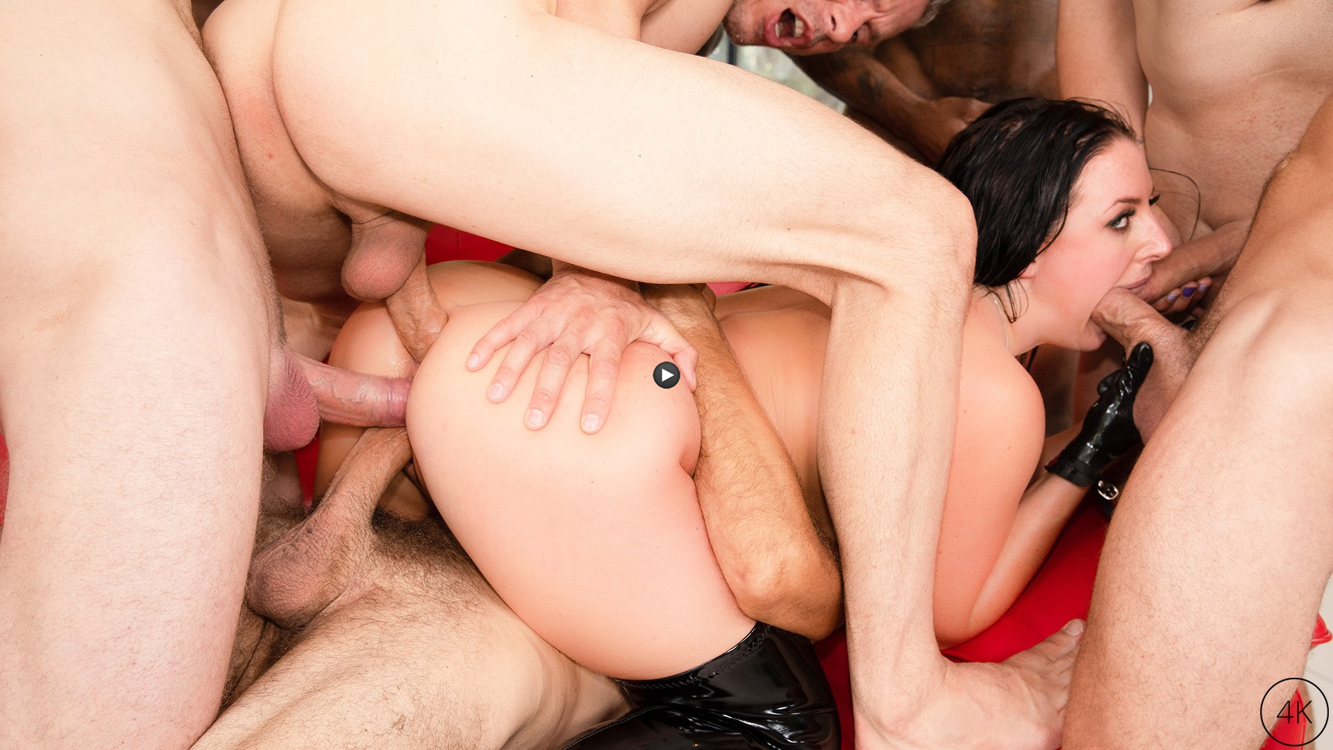 Watch Trailer Angela White's Dark Side Her Biggest Gangbang Ever, Double Anal, Triple Penetration!