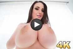 Angela White Shows Off Her Big Natural 42G Tits, This Aussie Gets A Cock In Her Outback!