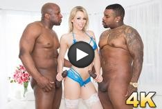 Zoey Monroe Dp'd, Opens Up Her Holes For Two Big Black Cocks